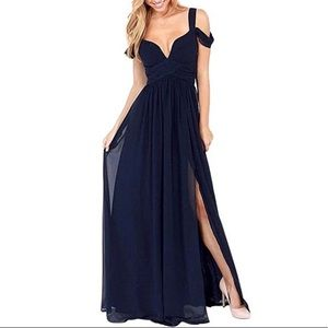 NWT SEXY OFF THE SHOULDER LONG DRESS.